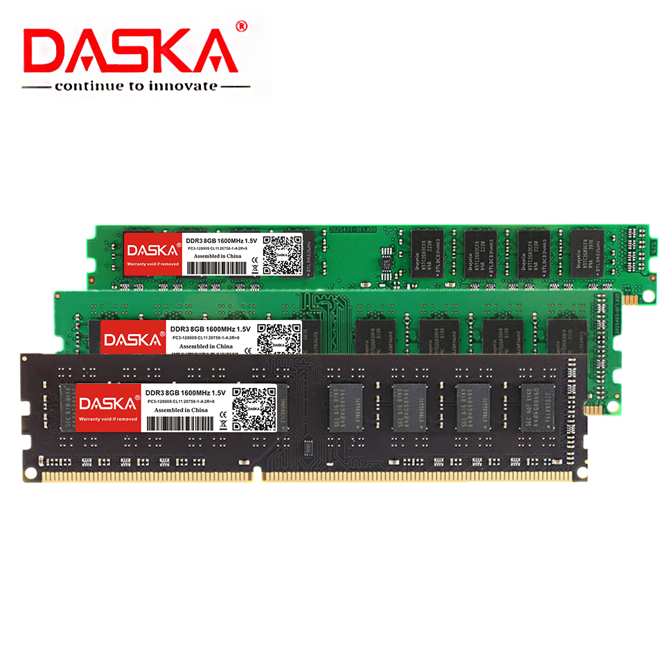 DASKA DDR3 Desktop Memory RAM with 8GB/4GB/2GB Capacity and 1600/1333MHz Speed 13