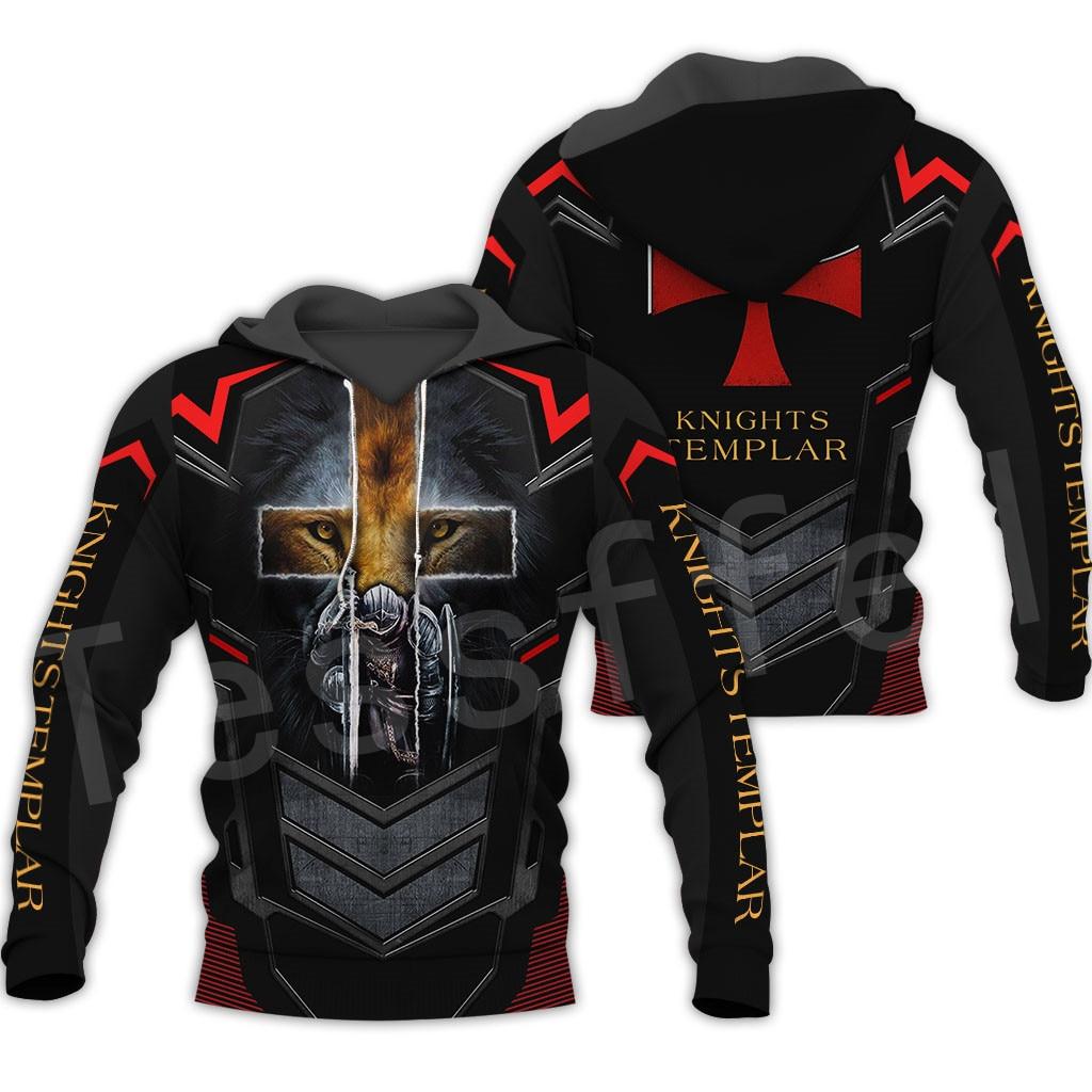 Tessffel Knights Templar Armor Pullover Streetwear Harajuku Pullover 3DfullPrint Zipper/Hoodie/Sweatshirt/Jacket/Mens Womens S-8