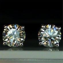 Трендовые 5 мм/9 мм лабораторные алмазные серьги гвоздики 100%