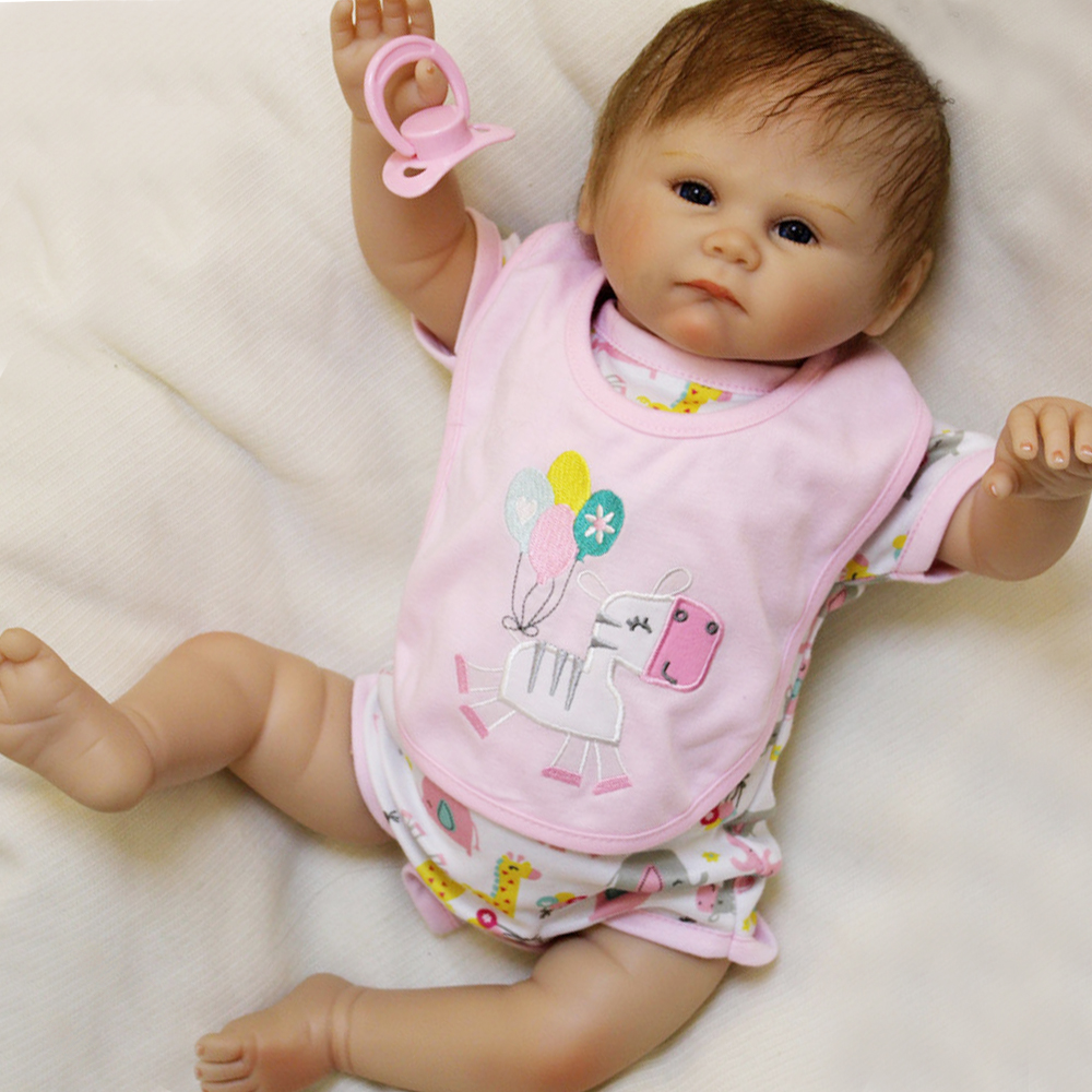 "20/"" Lifelike Soft Silicone Newborn Baby Doll Toddler Girl Babies Dolls"