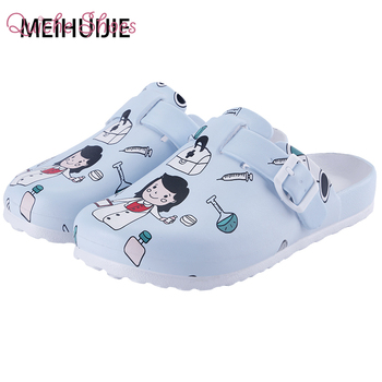 Medical shoes women nurse slippers EVA laboratory doctor clogs Non-slip Nurse Clogs Surgical Shoes dentist Work slippers image