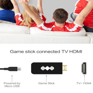 Image 4 - USB Wireless Handheld TV Video Game Console Build In 600 Classic Game 8 Bit Mini Video Console Support AV/HDMI Output