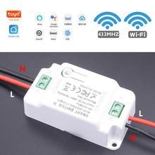 Nouveau commutateur intelligent WiFi + 433 Support de télécommande Tuya / Smart Life APP Module domotique fonctionne avec Alexa Google Home