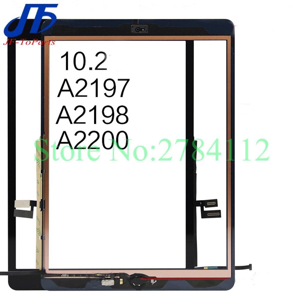 10 шт. сменный экран для iPad 7 10,2 7-го поколения A2197 A2198 A2200 для ipad 7 8-го сенсорного экрана дигитайзер внешняя стеклянная панель с клеем