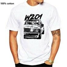 Anime W201 190e rahat yeni varış Tee gömlek erkek moda Crewneck T-Shirt moda % 100% pamuk