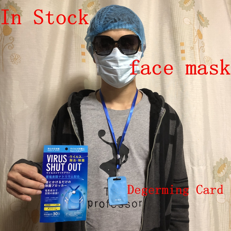 In Stock Face Mask Made In Japan Virus Shut Out Degerming Card Cleanse For Adult And Children