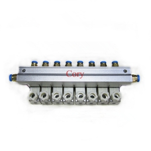 Image 3 - 1 pc 電磁弁バスバー 2 ウェイ空気圧アルミセット 2V025 06/08 ポート 1/8 1/4 bsp pushfit 継手 6 ミリメートル DC24V/12 v AC220V/110 v