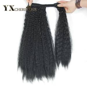 YXCHERISHAIR Hairpiece Magic-Ponytails Synthetic Black Brown Extensions Straight-Wrap