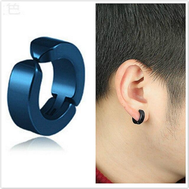 Korean Version Black Punk Earrings Male Anti allergy Earrings Titanium Steel Stud Earrings Ear Nails Without.jpg 640x640 - Korean Version Black Punk Earrings Male Anti-allergy Earrings Titanium Steel Stud Earrings Ear Nails Without Earhole