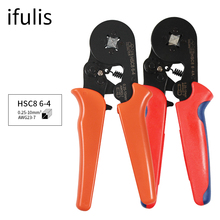 HSC8 6-4 0.25-10mm2 crimping pliers HSC8 6-6A 0.25-6mm2 Mini Round Nose Plier Tube Needle Terminals Tools Crimping Tool Pliers hsc8 1 4 w1 w2 w3 mini type self adjustable crimping plier terminals crimping tools