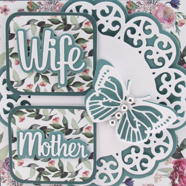 Word Metal Cutting Dies for Scrapbooking and Card Making New 2019 die cuts