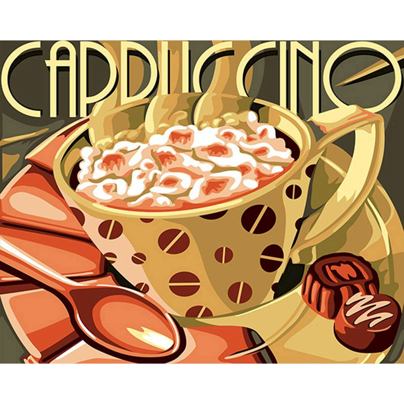 RUOPOTY DIY Cappuccino Romance Painting By Numbers Figure Canvas Wedding Decoration Art picture Gift for home decor Christmas-0
