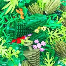 Piezas de bloques de construcción para niños, piezas de accesorios para plantas de árboles, Compatible con arbusto de hierba, hoja, jungla, militar, ciudad, amigos, MOC, juguetes de bloques para niños