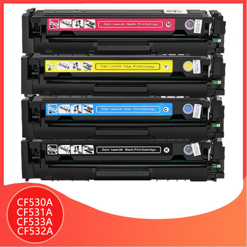 <font><b>CF530A</b></font> CF531A CF532A CF533A 205A Color Toner Cartridge with chip For <font><b>hp</b></font> Color LaserJet Pro 154 M154nw M180nw M180n printer image