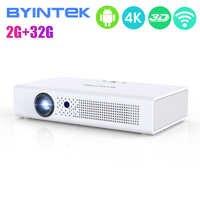 BYINTEK R19 3D proyector 4K de 300 pulgadas Smart Android WIFI Video LED portátil Mini DLP proyector Full HD 1080P HDMI 4K