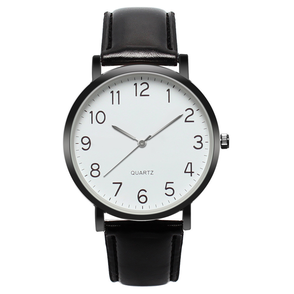 Fashion Men Watches Men Unisex Leather Band Simple Busines Analog Alloy Vintage Quartz Watch 2019 Top Brand Male Clock 10