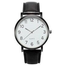 купить Fashion Men Watches Men Unisex Leather Band Simple Busines Analog Alloy Vintage Quartz Watch 2019 Top Brand Male Clock 10 онлайн