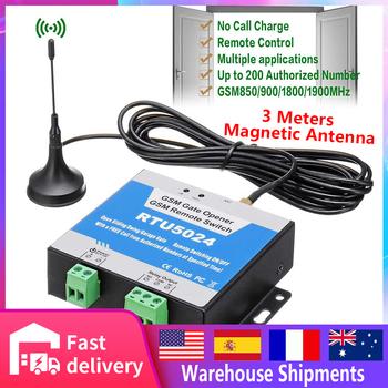 RTU5024 długa antena 3m sterownik GSM do otwierania bramy łącznik przekaźnikowy pilot bezprzewodowy dzwonek do drzwi SMS 850 900 1800 1900MHz mechanizm otwierania drzwi tanie i dobre opinie CN (pochodzenie) Quad-Band 850 900 1800 1900MHz NC NO dry contact 3A 240VAC 9-24VDC 2A 12V Input Max 50mA Average 25mA