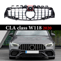 ABS GT Front Grilles For Mercedes CLA class W118 CLA118 CLA220 CLA250 260 300 2020 Frame Cover Trim Decoration