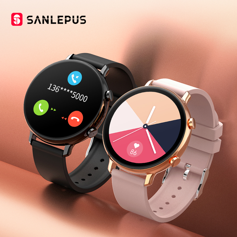 SANLEPUS-reloj inteligente ECG para Android, Apple y Samsung, reloj inteligente resistente al agua con control del ritmo cardíaco, llamadas y Bluetooth para hombre y mujer 2020