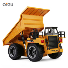 1:18 Huina RC самосвал игрушки 6CH дистанционное управление игрушечные автомобили для пляжа RC инженерный автомобиль