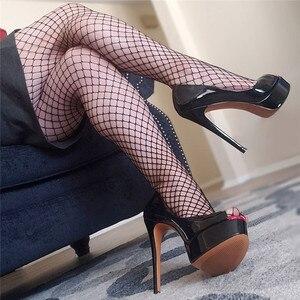 Image 1 - Onlymaker/женские модные туфли на шпильке с открытым носком, босоножки на очень высоком каблуке, вечерние свадебные туфли без застежек, большие размеры