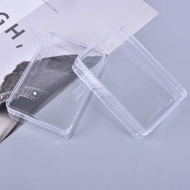 2 Stuks Transparante Plastic Dozen Speelkaarten Container Plastic Storage Case Verpakking Poker Game Card Box Voor Poken Set
