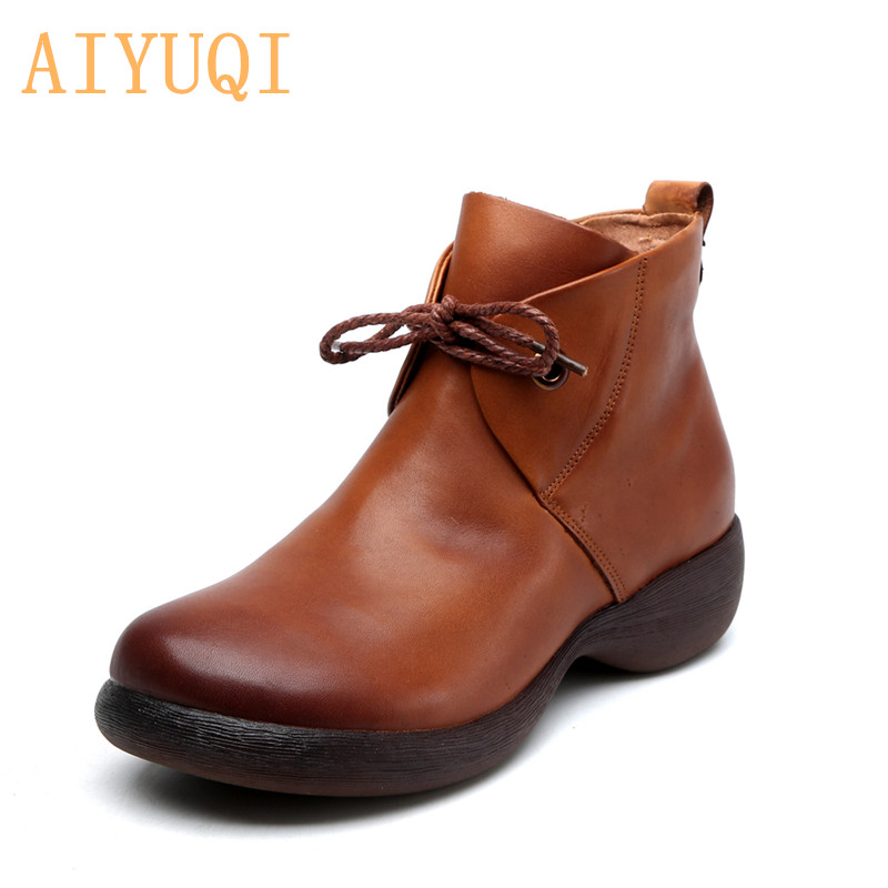AIYUQI Women Shoes Retro 2019 New Autumn  Genuine Leather Casual Or Ladies