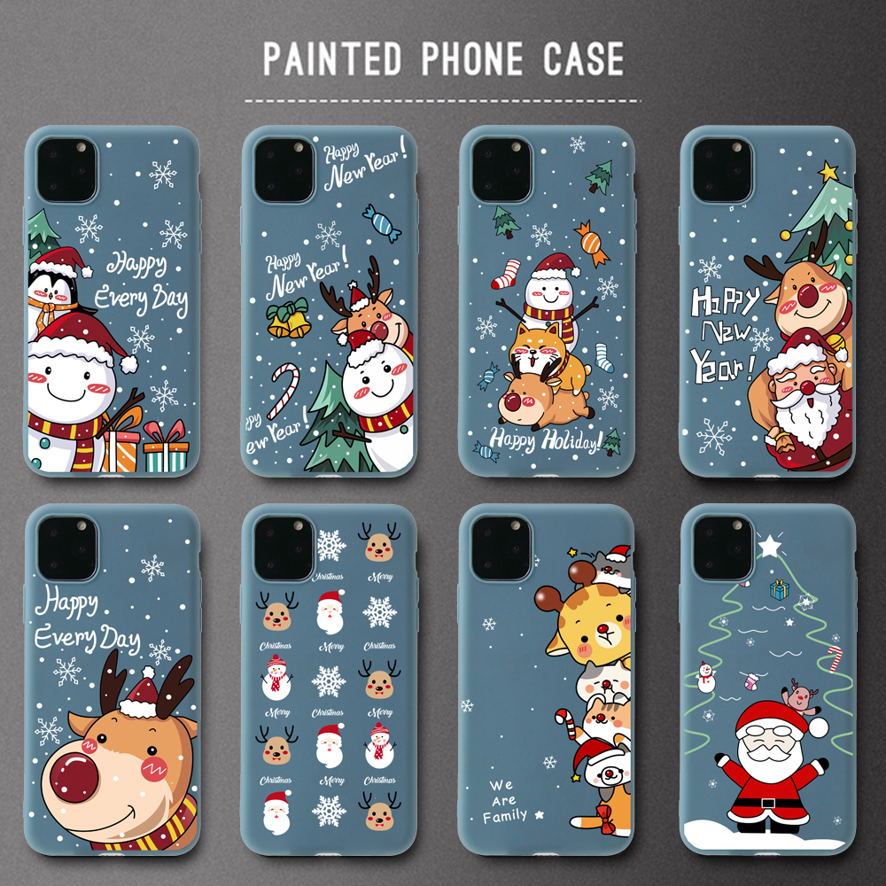 Funny Cartoon New Year Christmas Case For iPhone 12 Pro Max