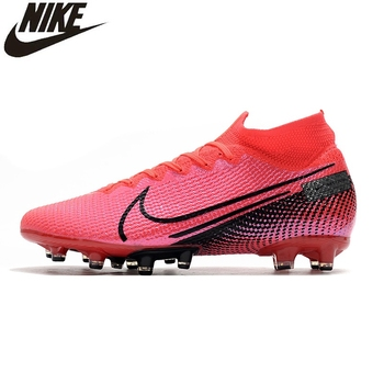 Nike Superfly 7 Elite SE AG Flyknit 360 Mercurial Superfly Electroplated High Knitting Soccer Shoes Sneakers Men Football Boots фото