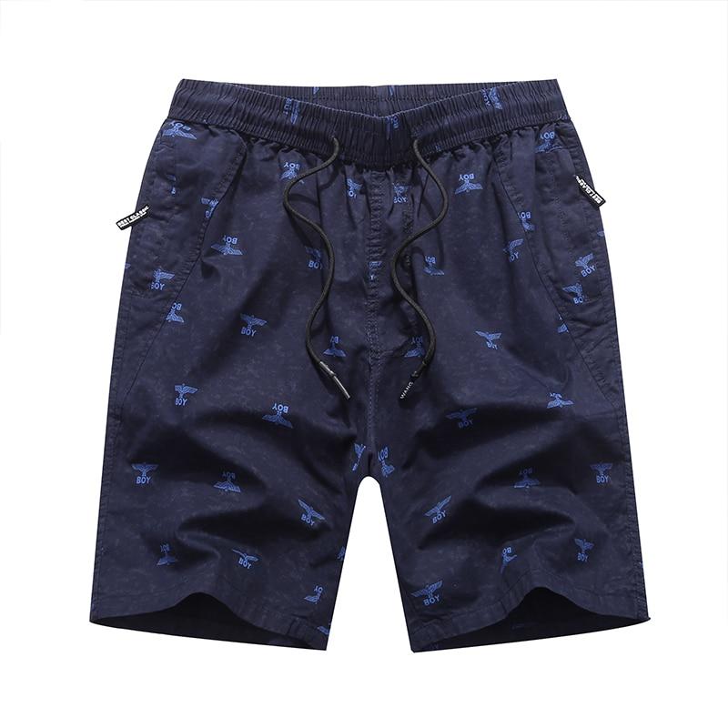Work Out Print Cotton Cargo Shorts Men Casual Summer Shorts For Men Safari Style Pockets Man Short Pants Plus Men Clothing 4XL