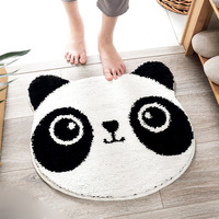 Popular Panda Floor Mat Soft Black White Mixed Color Carpet Kitchen Living Room Hallway Rugs