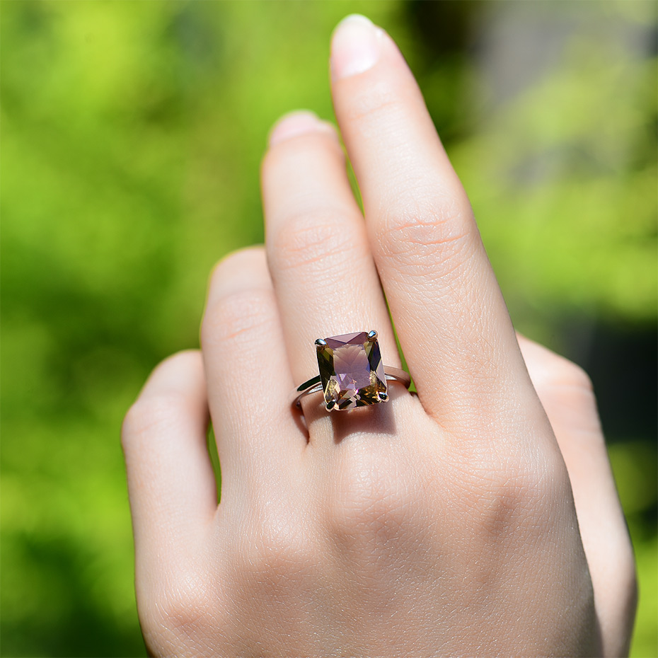 Kuololit Diaspore Sultanite Gemstone Rings for Women Real 925 Sterling Silver Emerald Cutting Engagement Promise Fine Jewelry