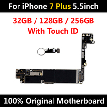 Nouvelle arrivée usine débloqué carte mère pour iPhone 7 Plus 5.5 pouces carte mère dorigine avec ID tactile IOS fonctions complètes bon Test