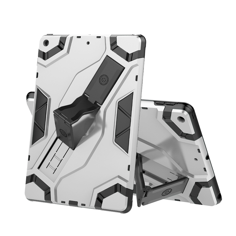 Silver Silver Kids Shockproof Case for IPad 7th Generation 2019 Armor Cover Funda Cases for IPad 10 2