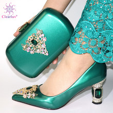 Bag Matching-Set Green-Shoes Italian And To for Parties African