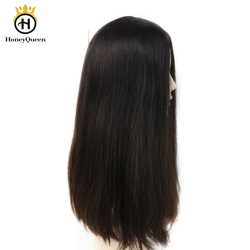 Jewish Wig European Remy Hair Silk Base Lace Front Human Hair Wigs Straight Double Drawn 4# Color Kosher Wig Honey Queen