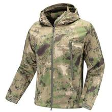 Men's Camouflage Jacket Tactical Military SoftShell Army Clothing man Waterproof windproof warm hunting fishing Clothes