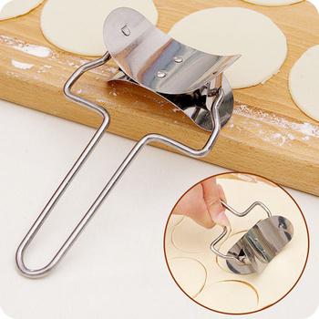 Stal nierdzewna okrągłe pierogi owijarki maszyna do cięcia nóż do ciasta do kuchni piekarnia gotowanie narzędzia do pieczenia ciasta Maker Mold Device tanie i dobre opinie Halojaju Frezy ciastka Ekologiczne Zaopatrzony MQCF-187 Metal cooking tools cozinha herramientas pastry tools cookie cutter knife
