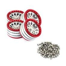4PCS 1.9-inch Heavy Aluminum Alloy Lock Tire Hub Wheels Rim Set Beadlock Wheels Rims For RC Crawler 1/10 SCX10 90046 TRX4 D90 10 1 inch 40