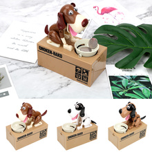 Money Saving Box Creative Plastic Kids Gift Automated Money Boxes Electronic Piggy Banks Cartoon Robotic Dog Steal Coin Bank