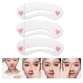 3Pcs Reusable Eyebrow Drawing Guide Card Assistant Template Brow Makeup Stencil Keep your eyebrows symmetrical and trimmed perfe