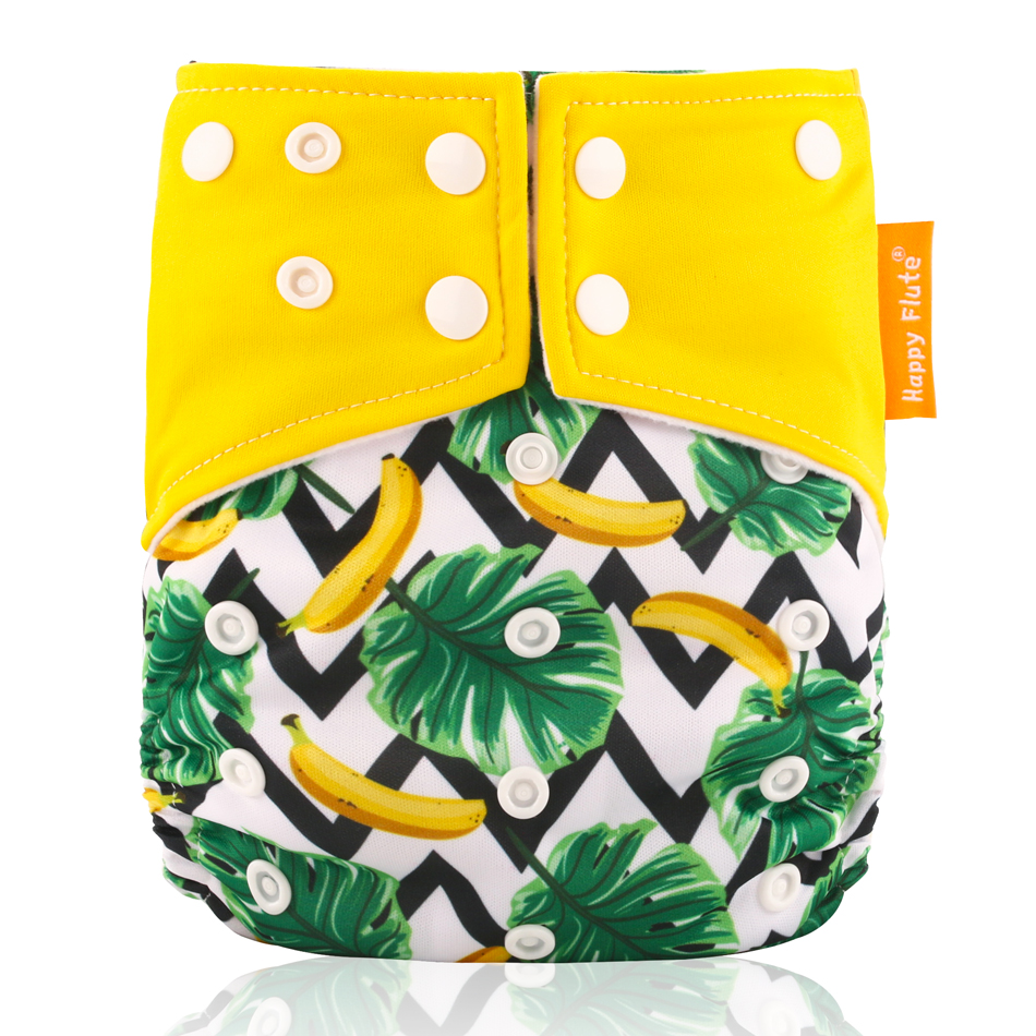 Genuine Happy Flute OS suede cloth pocket baby cloth diaper with two pockets and double snap