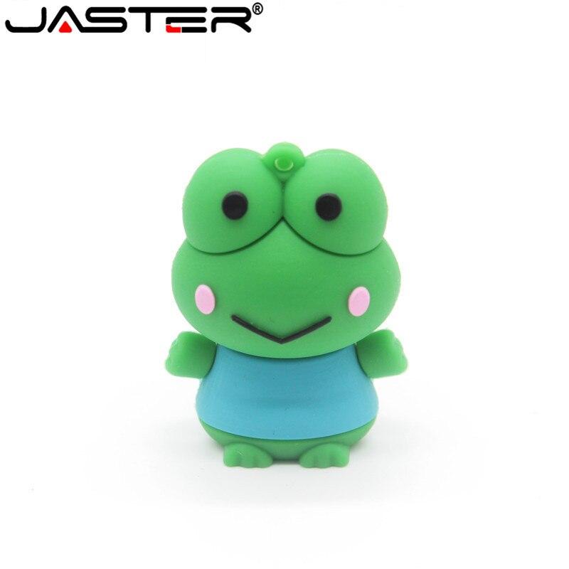 JASTER Cartoon Cute Frog Model Usb2.0 4GB 8GB 16GB 32GB 64GB Pen Drive USB Flash Drive Creative Pendrive