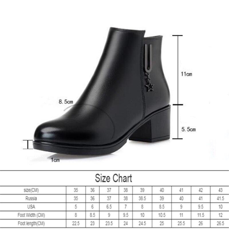 AIYUQI patik kadın 2020 hakiki deri kadın Martin çizmeler, kalın yün büyük boy 42 43 botları, avustralya kadın kar botları