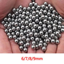 100/300 Pcs Stainless Steel Bola 6 7 8 9 Mm Katapel Amunisi Outdoor Berburu Saku Ditembak Shooting Katapel pinball Catapult Peluru(China)