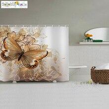 Rideaux de douche papillon Polyester rideaux de douche imperméables rideau de bain rideau de salle de bain