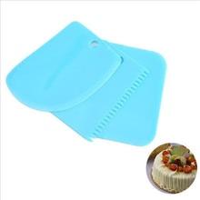 3PCS/Lot Dough Cake Cutter Slicer Spatula for Cake Cream Scraper Cake Blade Silicone