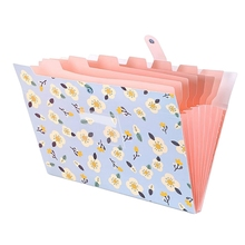 Expanding File Folder Floral A4 and Letter Size Archival File Holder Organizer 8 Pockets