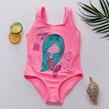 New Kids & Baby Girls Swimsuit Girls Swimwear Children Flamingo Swimwear High quality Kids Beach wear Kid Cartoon Print Swimsuit kids tropical print swimsuit